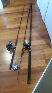 Fishing rods x2