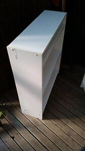 (Delivery possible) 2x book shelves and side table storage chest Boronia Knox Area Preview