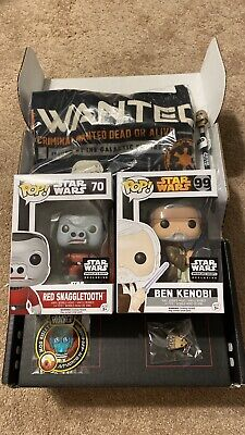 Funko Pop Star Wars Cantina Smugglers Bounty Box Size Large Red Snaggletooth