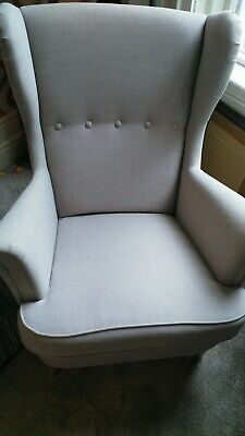 IKEA Strandmon Wing Chair Armchair High Back  Grey.  PLEASE READ DESCRIPTION!