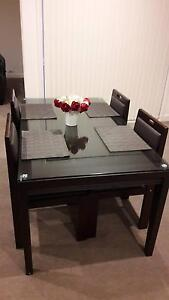 4-Seater Solid Wood Dining Set Pearce Woden Valley Preview