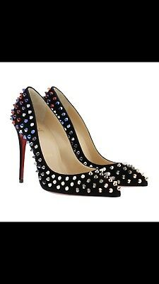 Christian Louboutin Follies Spikes 100 Suede Pump 36.5