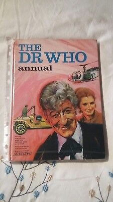 Doctor Who rare PINK Annual Dr Who Jon Pertwee unclipped