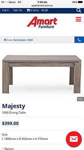 Majesty dining table with 6 chairs retail over $800 Randwick Eastern Suburbs Preview
