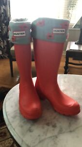 Hunter Boots with fleece liners