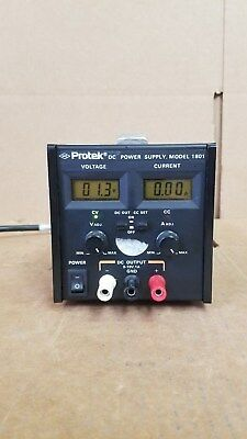 Protek Model 1801 Dc Power Supply Good