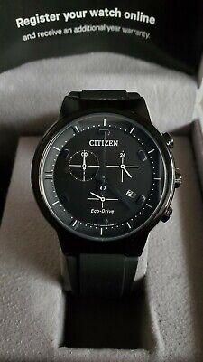 Citizen Men's Eco-Drive Paradex Sapphire AT2405-01E Watch MSRP $350 Excellent!!