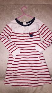 5t gap dress Minnie and necklace