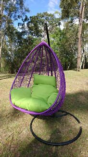 Hanging round tear drop pod egg chairs 299 only
