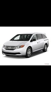 HONDA ODYSSEY LX 2011 white clean no accidents