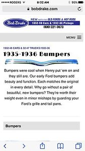 Wanted 1935 1936 ford pickup front bumper, grille etc....
