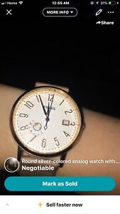Gold fossil watch waterproof