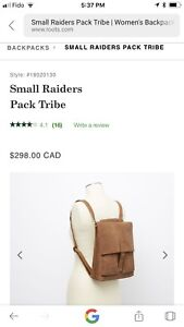 Roots small Raider Pack in Tribe Leather