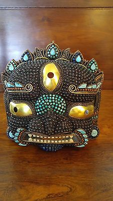 Tibetan Nepal Buddhism Copper Mask