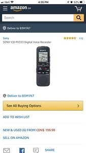 Sony ICD-PX333 Digital Voice Recorder