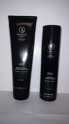 Paul Mitchell Awapuhi Wild Ginger Shampoo Keratin Cream Rinse 8.5 oz Duo Set