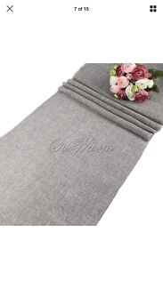 10 x grey table runners