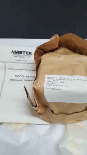 6685-01-336-7947 Ametec Model 86PGT Pressure Transducer