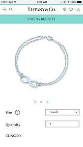 Brand New Authentic Tiffany Infinity Bracelet in Sterling Silver Edmonton Edmonton Area image 4
