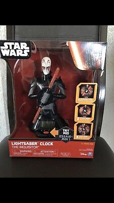 Spin Master STAR WARS THE INQUISITOR LED Alarm Clock w/ Spinning LIGHTSABER New ](Inquisitor Lightsaber)