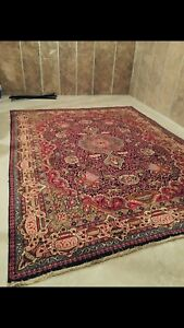 Beautiful One-of-a-Kind Persian Rug ,Knotted by hand