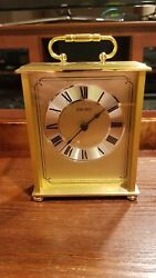 Seiko QHG102GLH Brass Carriage Clock - Desk, Mantel