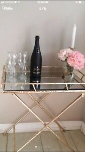 Gold side table