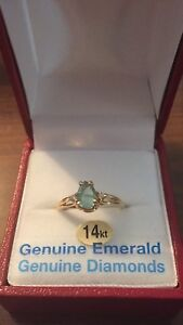 Emerald ring and $1500 appraisal