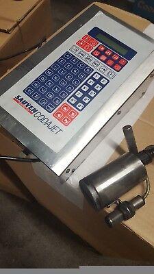 sauven printer with remote head in good condition