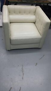 Leather white one seater