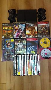 Playstation 2 Ps2 with 24 games, 2 controllers and memory card