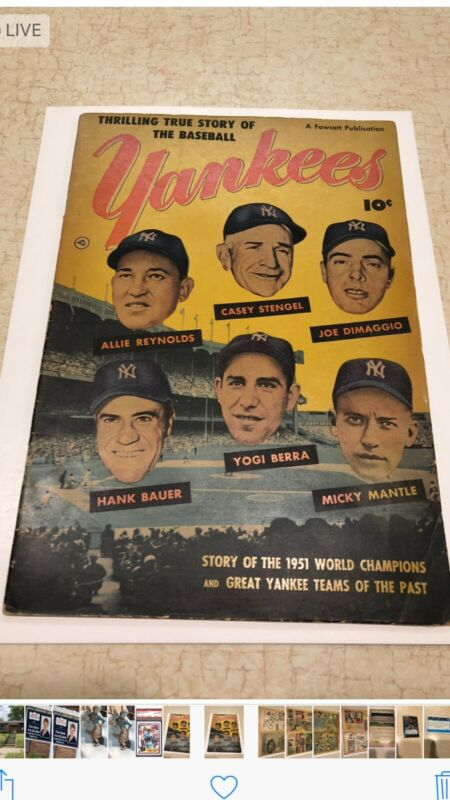 New York Yankees 1951 Fawcett Comic Book Mantle DiMaggio Berra Stengel History
