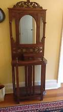 1920's Chip Carved Hall Stand with Mirror
