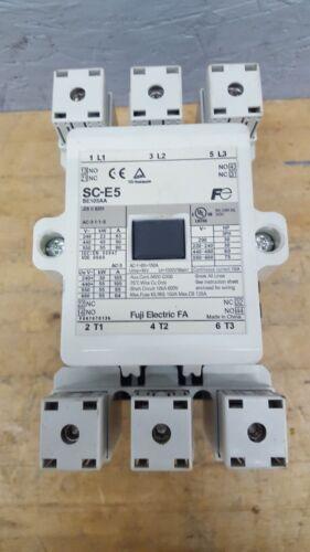 Fuji Electric SC-E5 SE105AA Magnetic Contactor/Starter 105 A 3 Pole USED