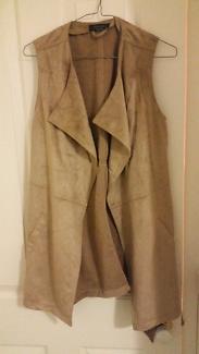 Suede camel coloured vest
