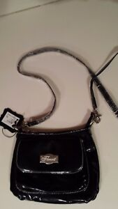 Flaunt By Faith Nicole solid  Black  mini Crossbody Bag Purse Handbag NEW