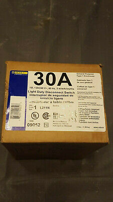 Square D 30a. Light Duty Disconnect Switch Brand New 09052