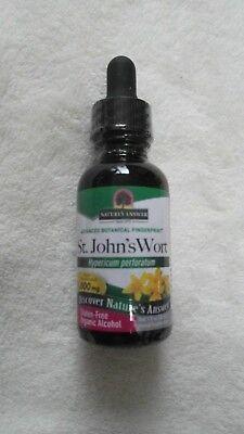 Nature's Answer St. John's Wort Flowering Tops 1000 mg Organic Alcohol 1 Oz @