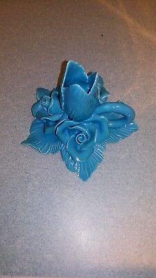 Porte bougie en forme de fleur en faience ou autre N°2