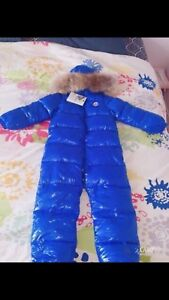 Moncler downfield waterproof snowsuit 6-7yrs