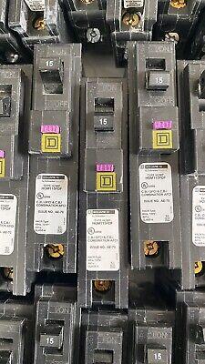 Square D Dual Function Circuit Breaker Hom115pdf Afci Gfci Breaker ---used---