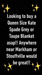 looking for a Kate Spade Blanket!!