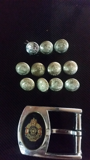 Qld police QPS belt buckle and buttons