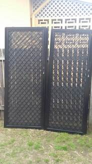 Double security screen sliding doors - black stainless steel mesh Clontarf Redcliffe Area Preview