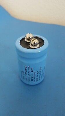 Capacitor Aluminum Screw Terminal 15000uf 7.5v Sangamo Made In Usa 1 Pc