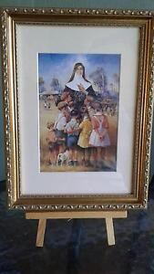 New Framed Darcy Doyle print of Saint Mary Mackillop Figtree Wollongong Area Preview