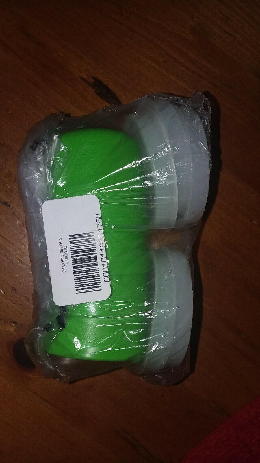 NEW Tupperware Set of 5 SMIDGETS Mini Green