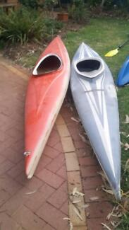 canoes and kayaks