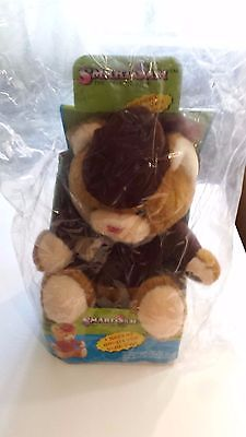 Vintage 1985 Smart Sam Talking Repeating Teddy Bear Brown NIP