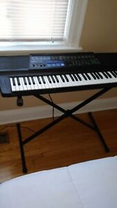 Key board stand and a key board piano all for sale